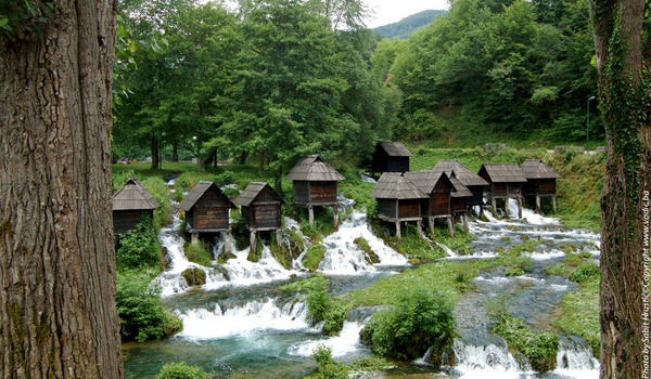 Tourists from all around the world coming to Jajce